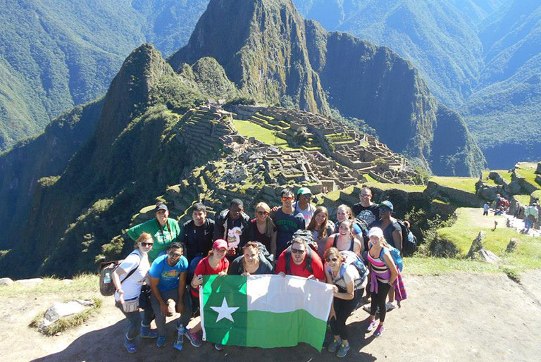 UNT students at Machu Picchu