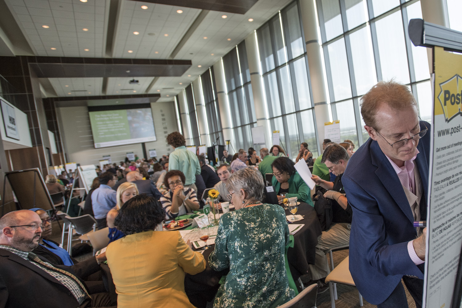 Apogee Stadium's HUB Club hosted the 2018 Planning Implementation Workshop