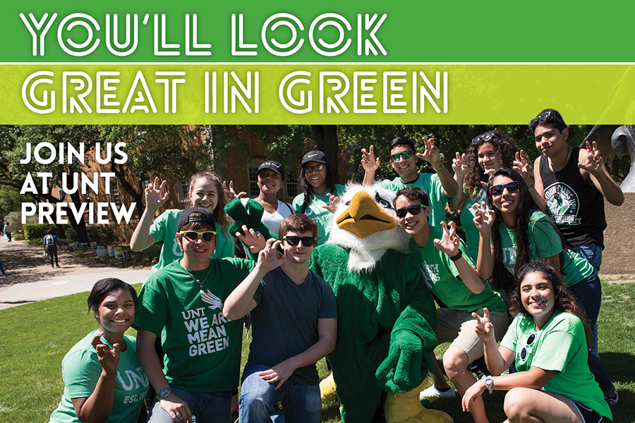 You'll Look Great in Green - Join us at UNT Preview