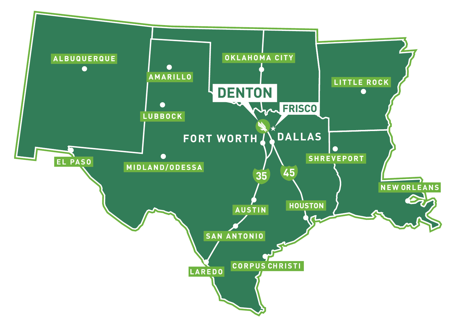 Map Of Texas Junior Colleges.About Unt University Of North Texas