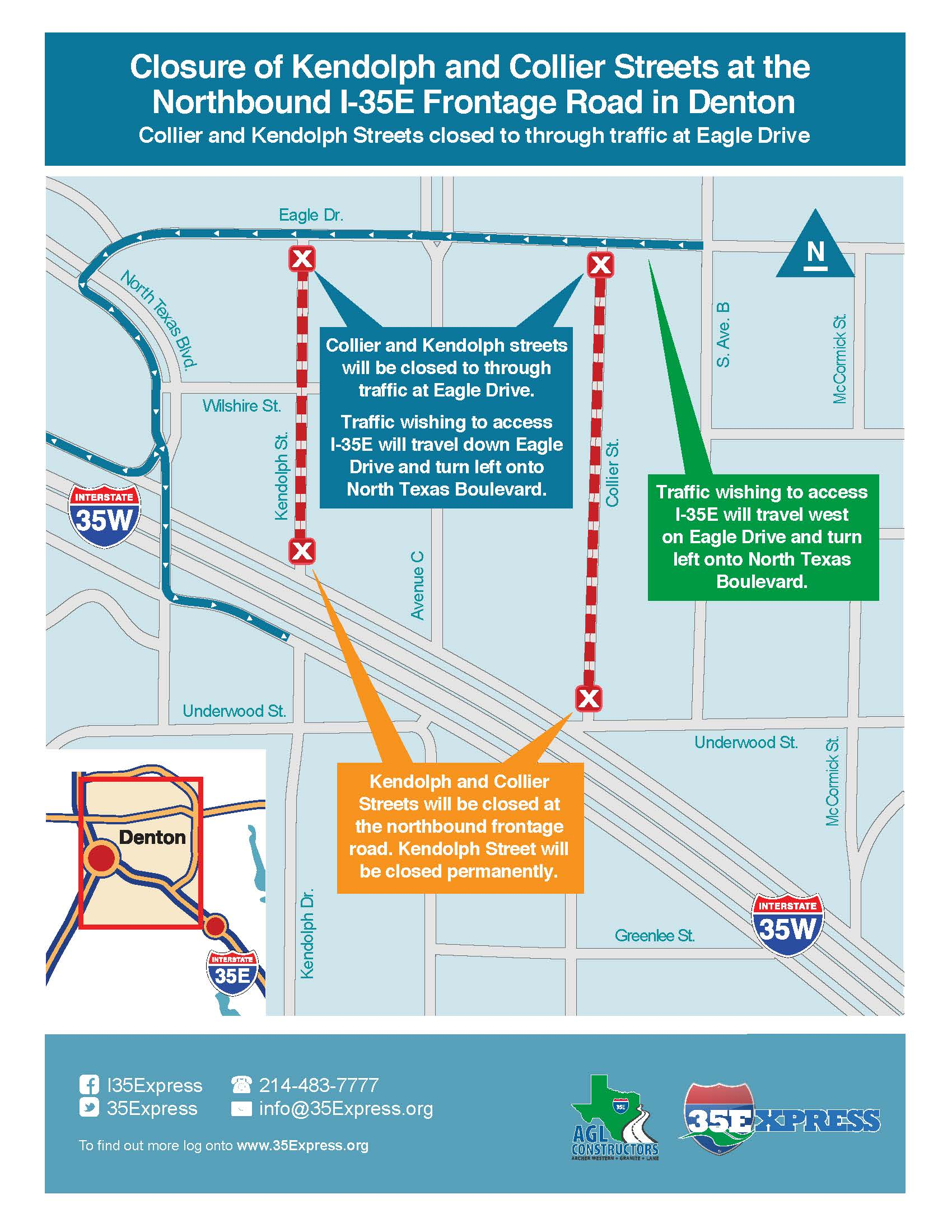 IE From I To US Construction University Of North Texas - I drive us closure map