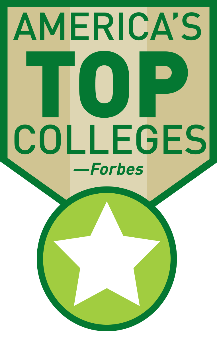One of America's Top Colleges by Forbes