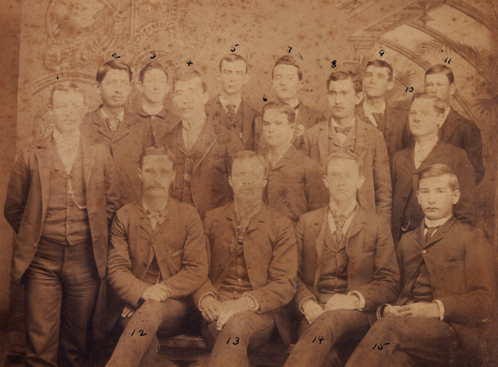 Texas Normal College professor and students in 1891