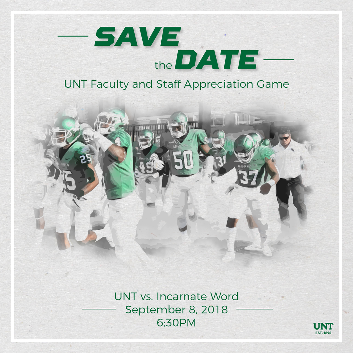 UNT faculty and staff appreciation game Sept. 8