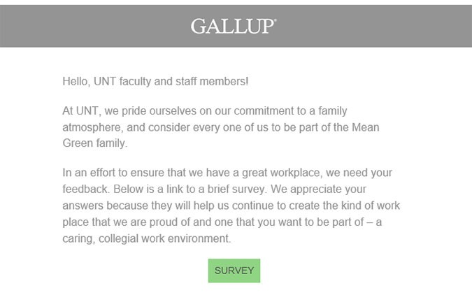 Gallup email graphic