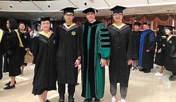 Students in China graduate with UNT degrees