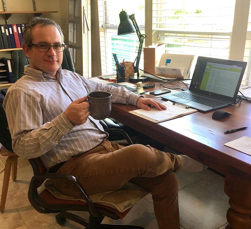 Ralf Schmidt working from home