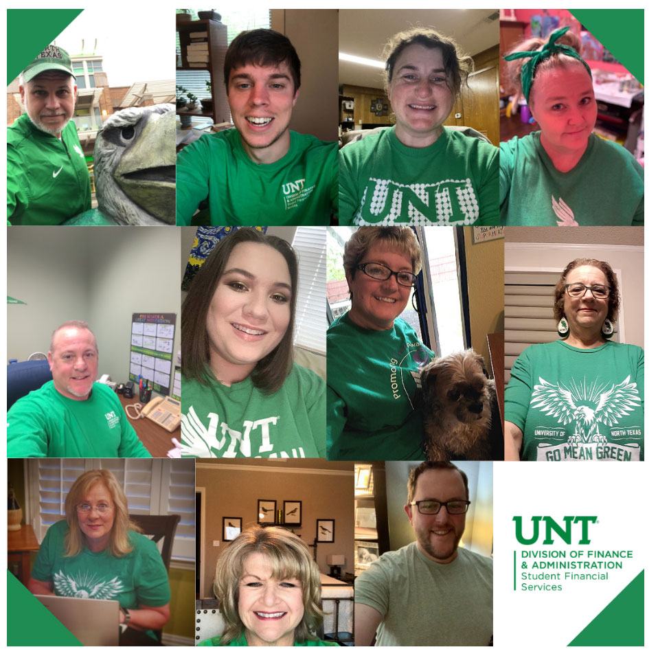 Staff participate in virtual Mean Green Friday