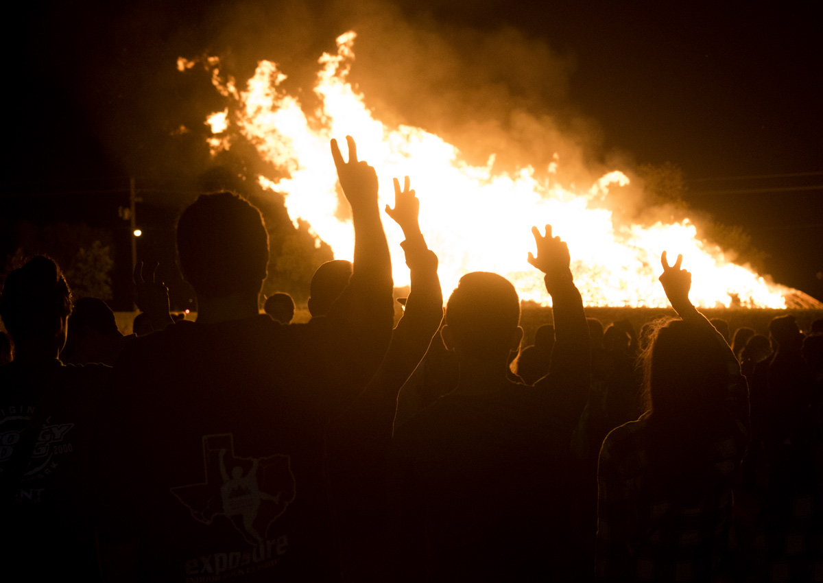UNT Homecoming Bonfire