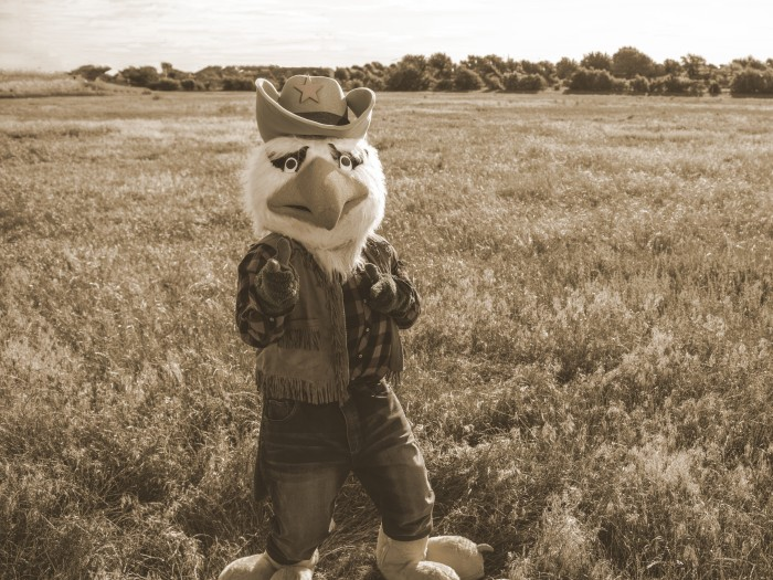 Old West style photo of Scrappy